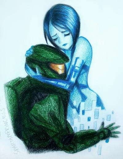Master Chief and Cortana by SpartanB214