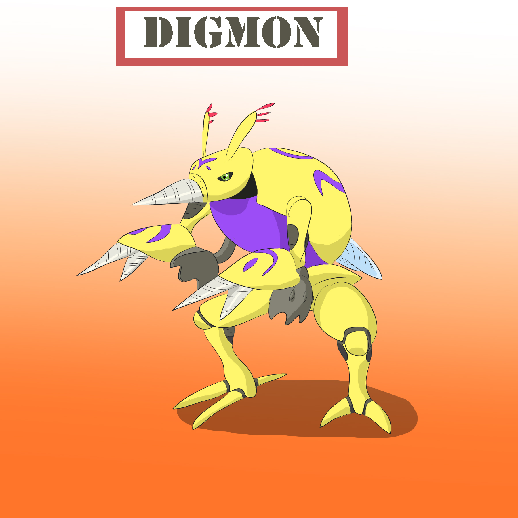 Digmon - The Drill of Power by Louisetheanimator