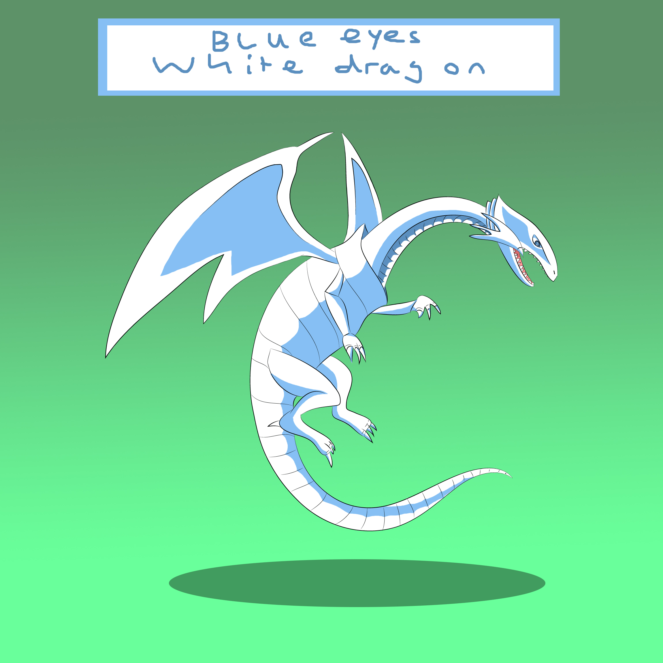 Blue Eyes White Dragon by Louisetheanimator