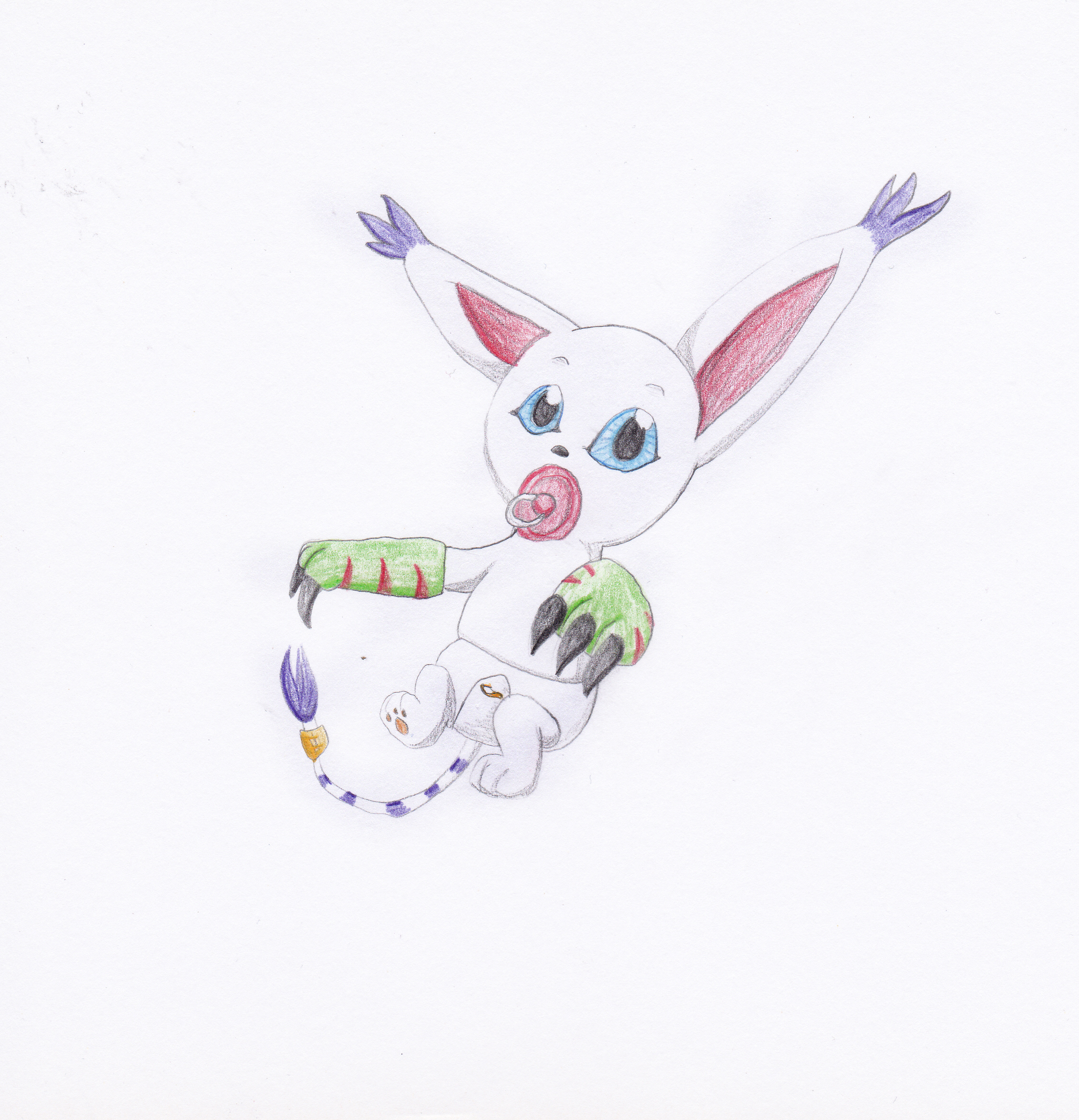 Baby Gatomon by Louisetheanimator