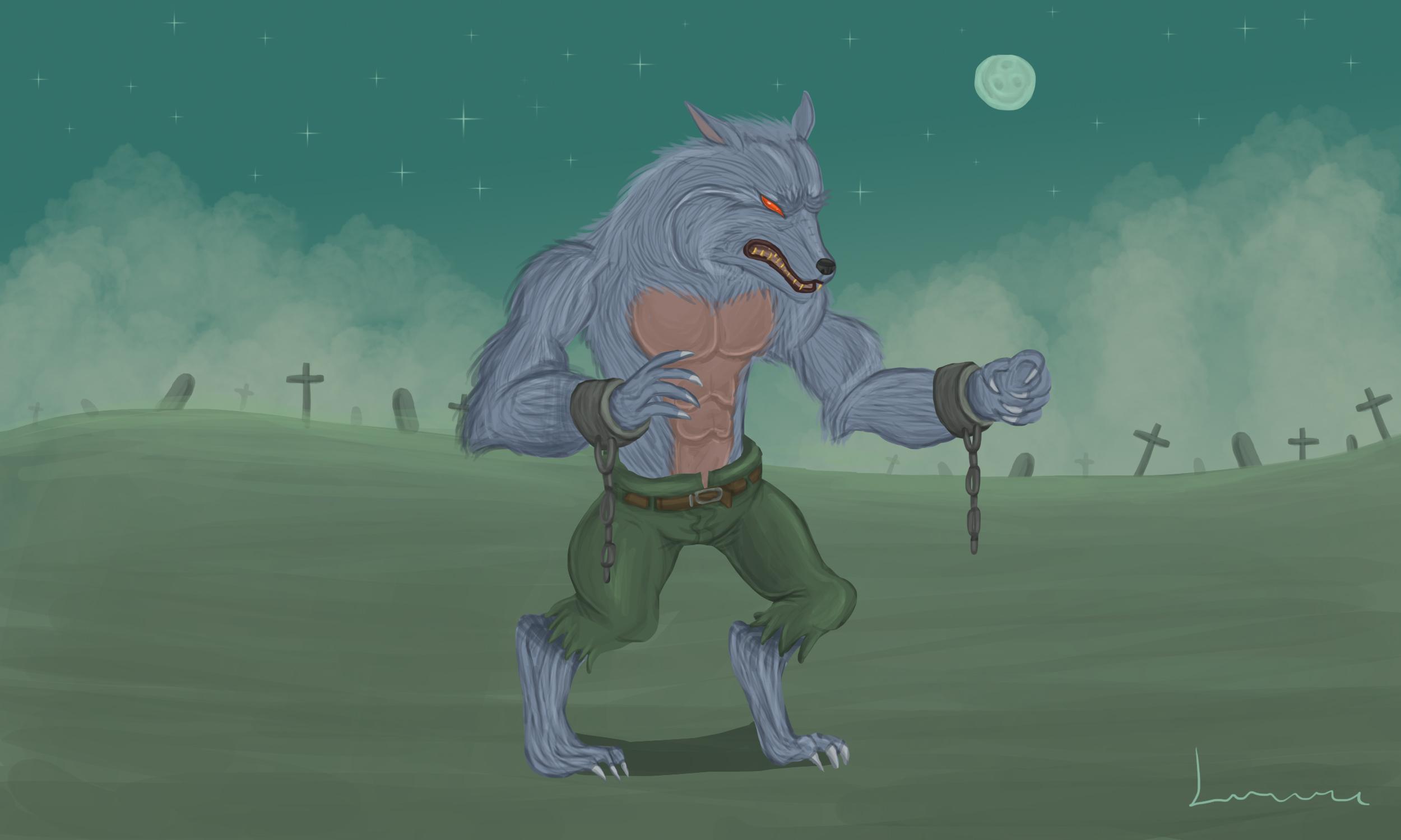 zombie werewolf by louisetheanimator on deviantart
