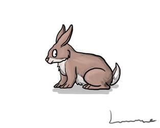 A Rabbit by Louisetheanimator
