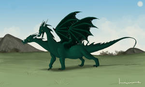 Two-headed Dragon by Louisetheanimator