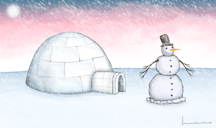 Christmas Up North by Louisetheanimator