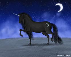 Black Unicorn by Louisetheanimator