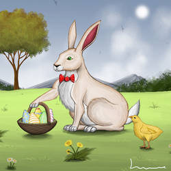 The Easter Bunny by Louisetheanimator