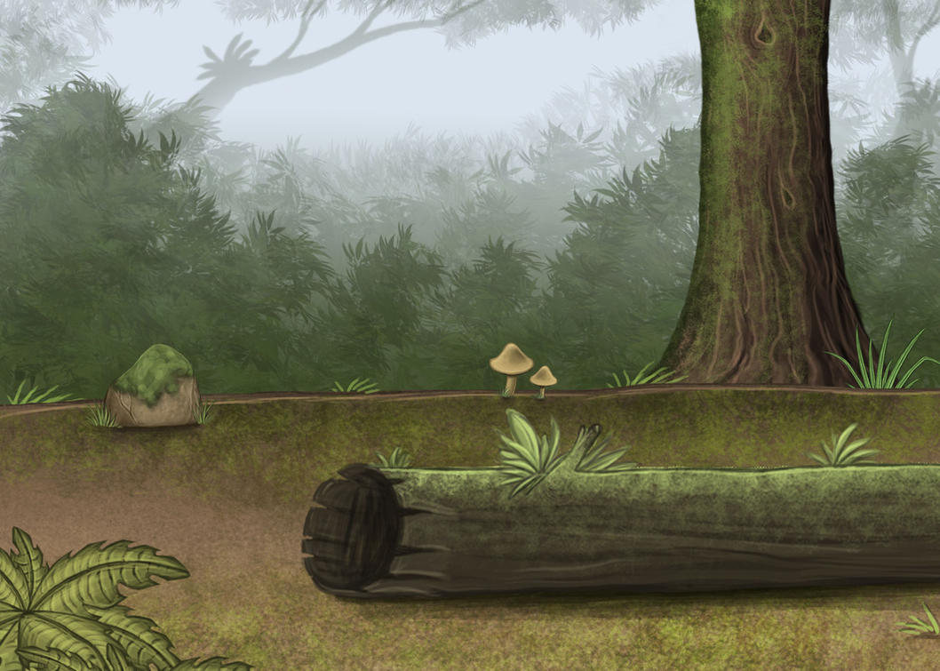 Jungle with Log by Louisetheanimator