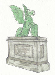 Gryphon Statue by Louisetheanimator