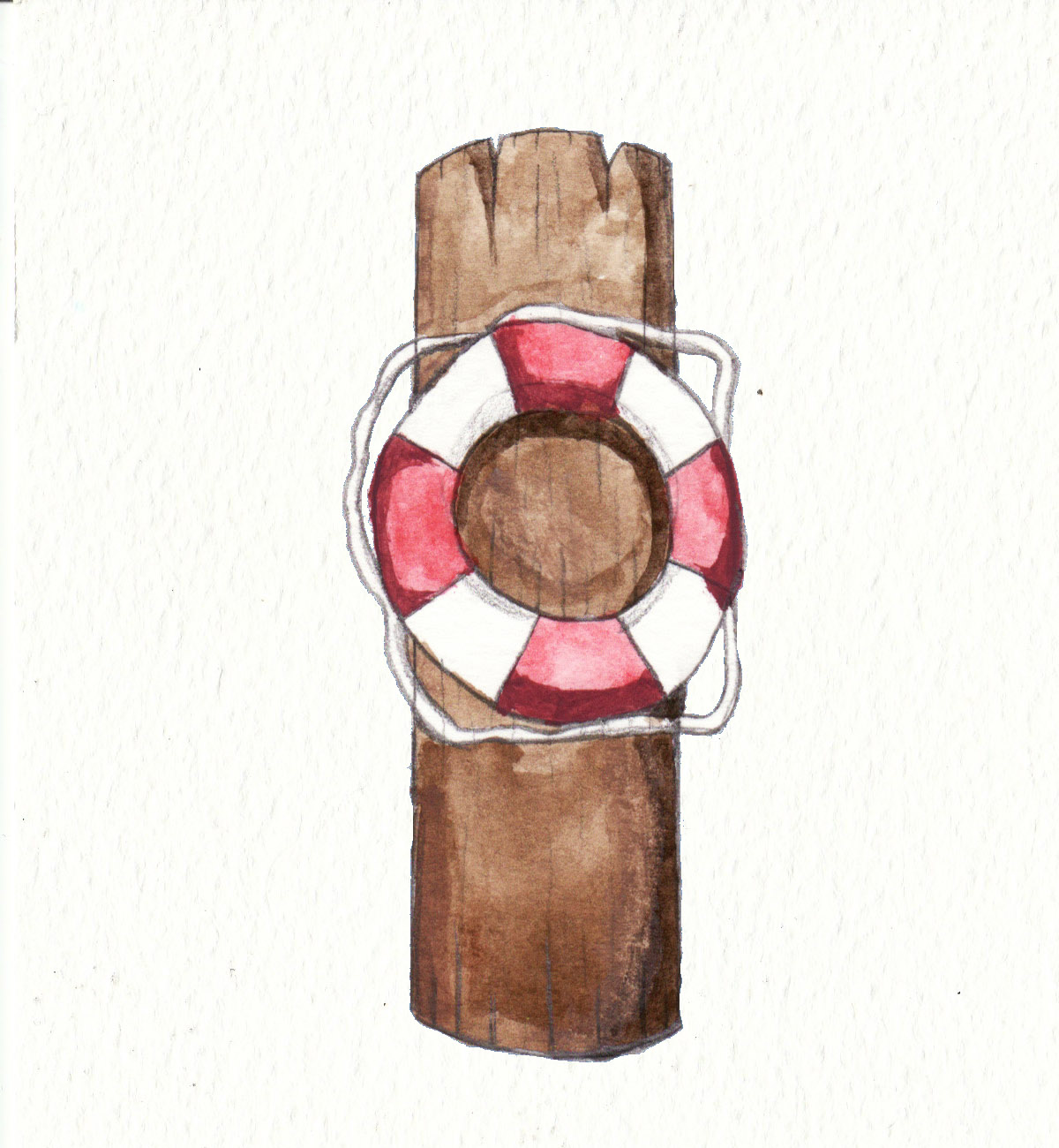 Rescue Ring on Pole by Louisetheanimator