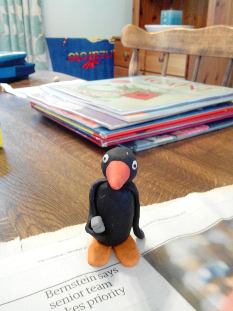 Pingu Ice Hockey Referee by Louisetheanimator