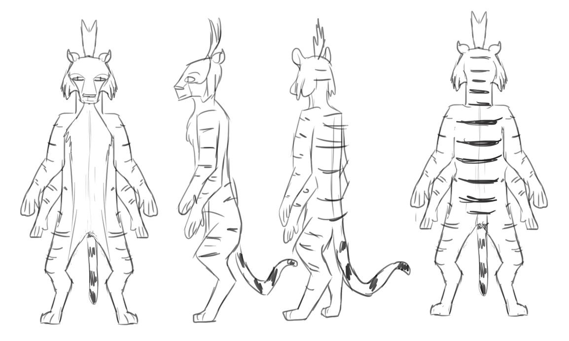 Claw Character Model Sheet by Louisetheanimator