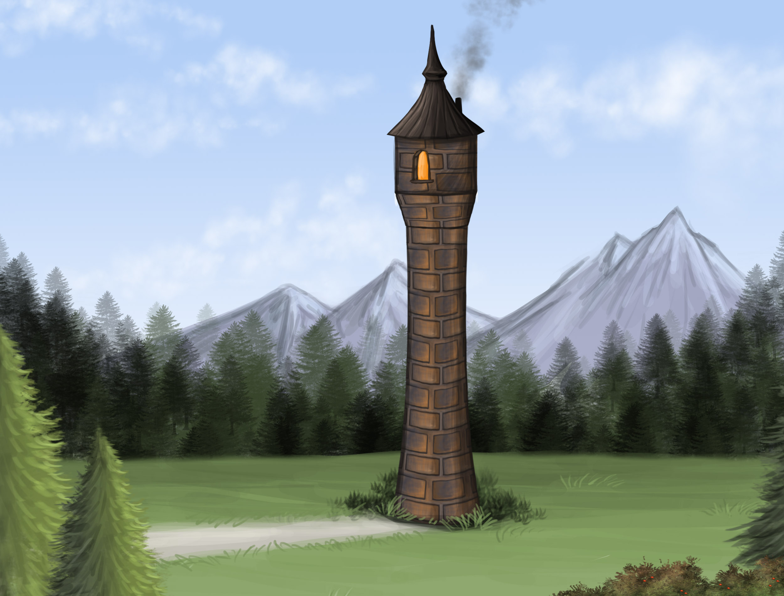 Rapunzel's Tower by Louisetheanimator
