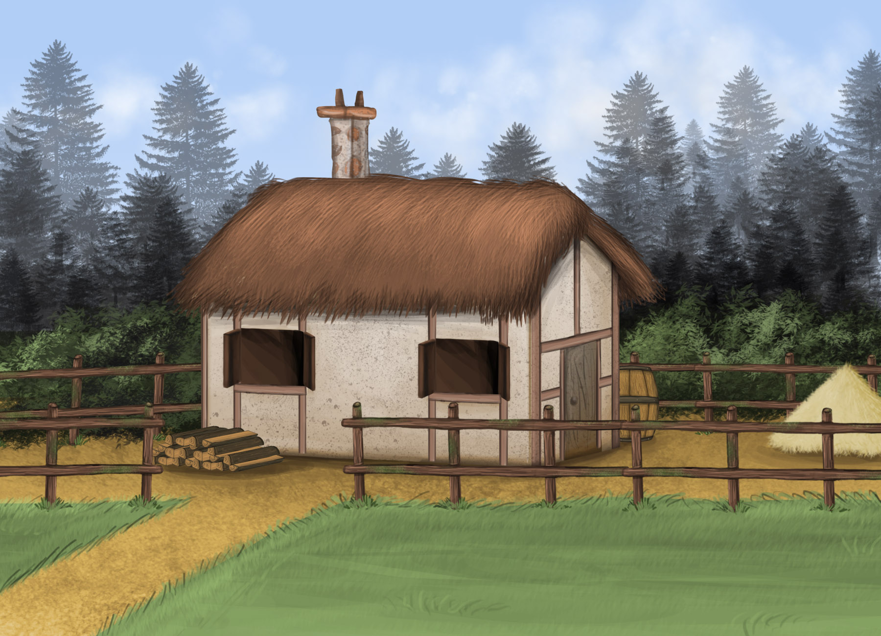 Cottage by Louisetheanimator