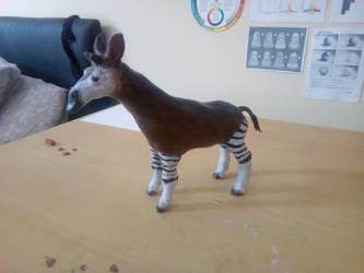 Okapi Sculpture by Louisetheanimator