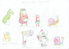 Spongebob Characters by Louisetheanimator