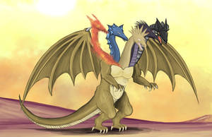 Five Headed Dragon by Louisetheanimator