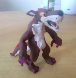 Mega Wolf Sculpture 2 by Louisetheanimator