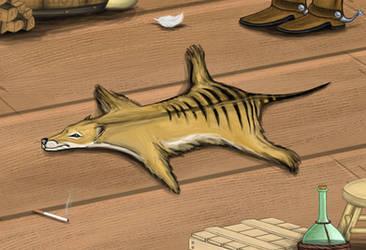 Thylacine Skin Rug by Louisetheanimator