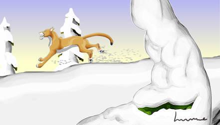 Leo Going Through Snow by Louisetheanimator