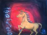 Egyptian Unicorn Painting by Louisetheanimator