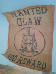 Claw Wanted Poster by Louisetheanimator