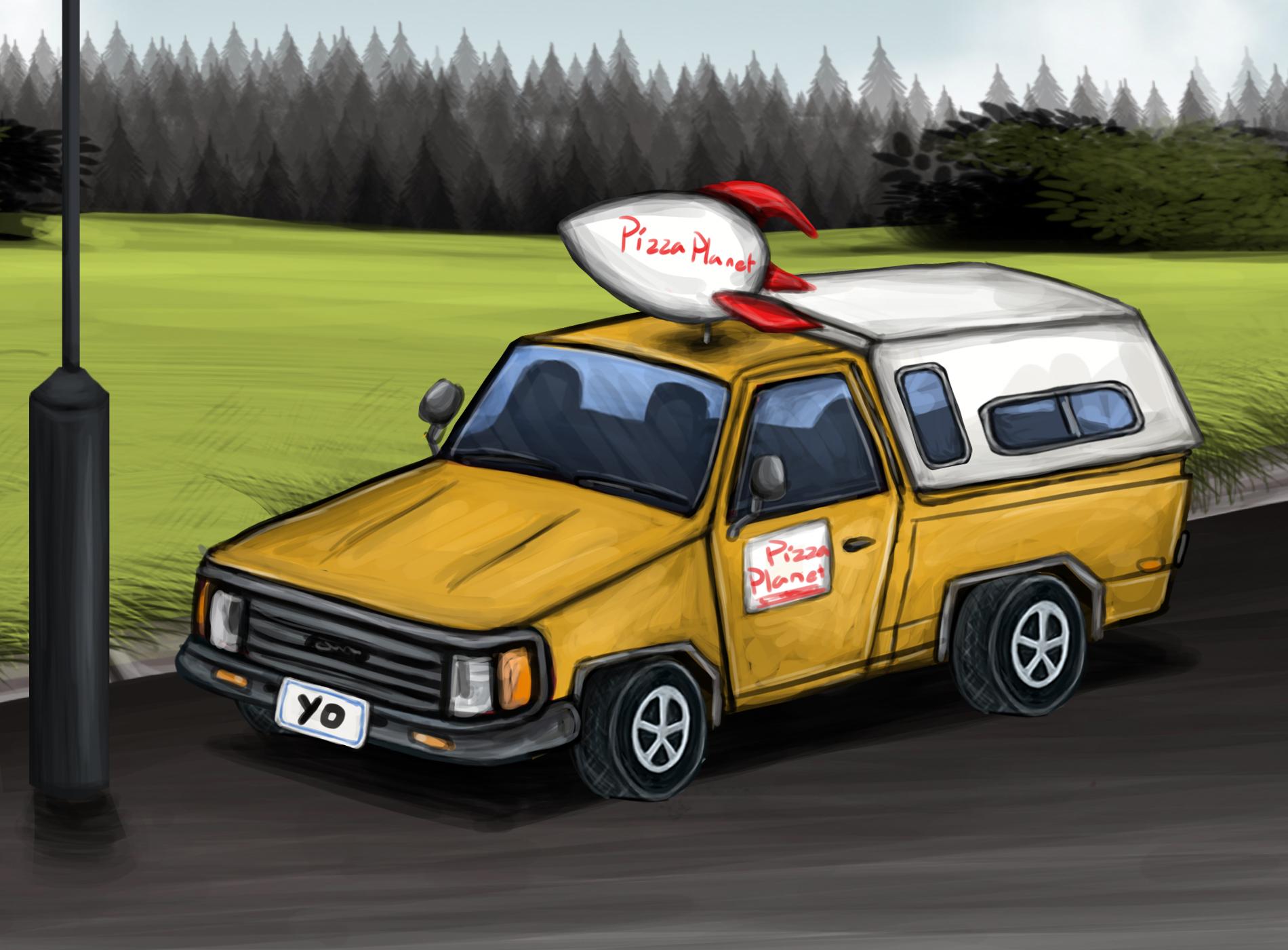 Pizza Planet Truck By Louisetheanimator On Deviantart