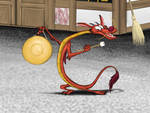 Mushu with a Gong by Louisetheanimator