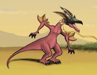 Harpie's Pet Dragon by Louisetheanimator