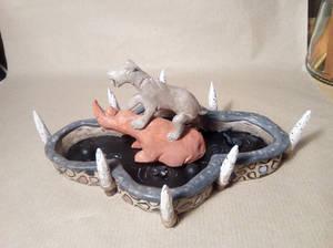 Extinct Decorative Tar Pit Sculpture