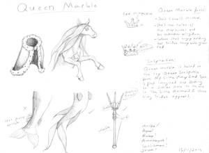 Queen Marble Design