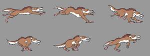 Mega Wolf Running Sequence