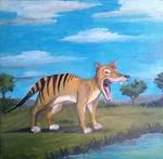 Thylacine Yawning by Louisetheanimator