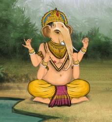 Ganesha the Hindu Elephant God by Louisetheanimator