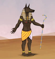 Anubis - God of the Dead 2 by Louisetheanimator