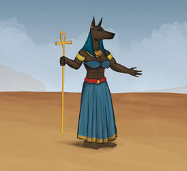 Anput - Goddess of Funerals by Louisetheanimator