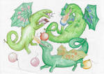 Mog's Birthday Dragons by Louisetheanimator
