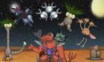 Trinosaur's Pokemon Team by Louisetheanimator