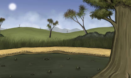Tar Pit with Trees 2 by Louisetheanimator