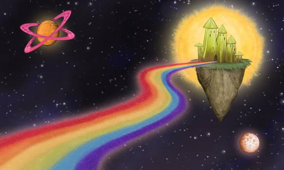 Rainbow Path to Space Kingdom