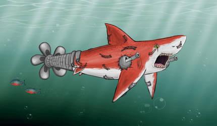 Red Cyborg Shark 2