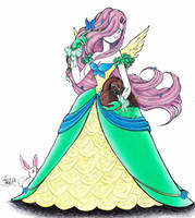 Fluttershy Gala Costume Design by StephanieChateau