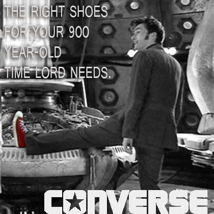 10th Doctor Converse Ad by samsnowsh
