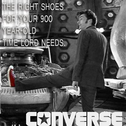 10th Doctor Converse Ad by samsnowsh