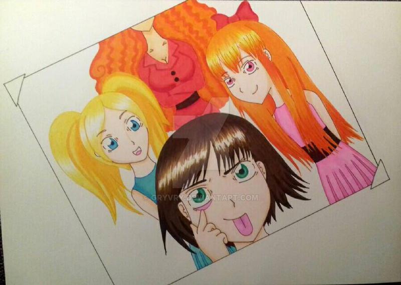 The Powerpuff girls by Gryvry
