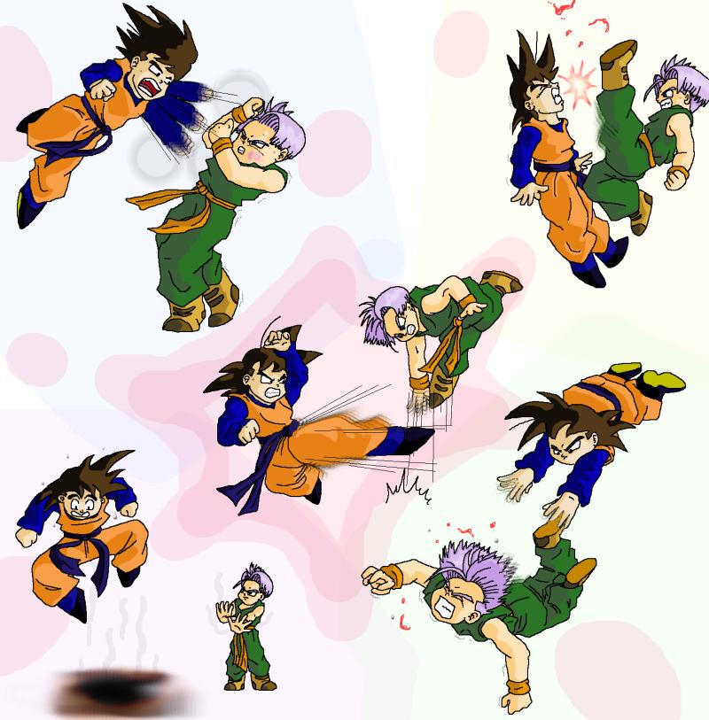 trunks and goten. Goten vs Trunks by *Ferntree