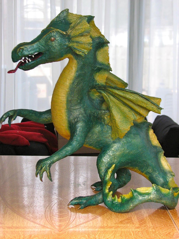Papier mache dragon by lizzerai on deviantart for Papier mache art for sale