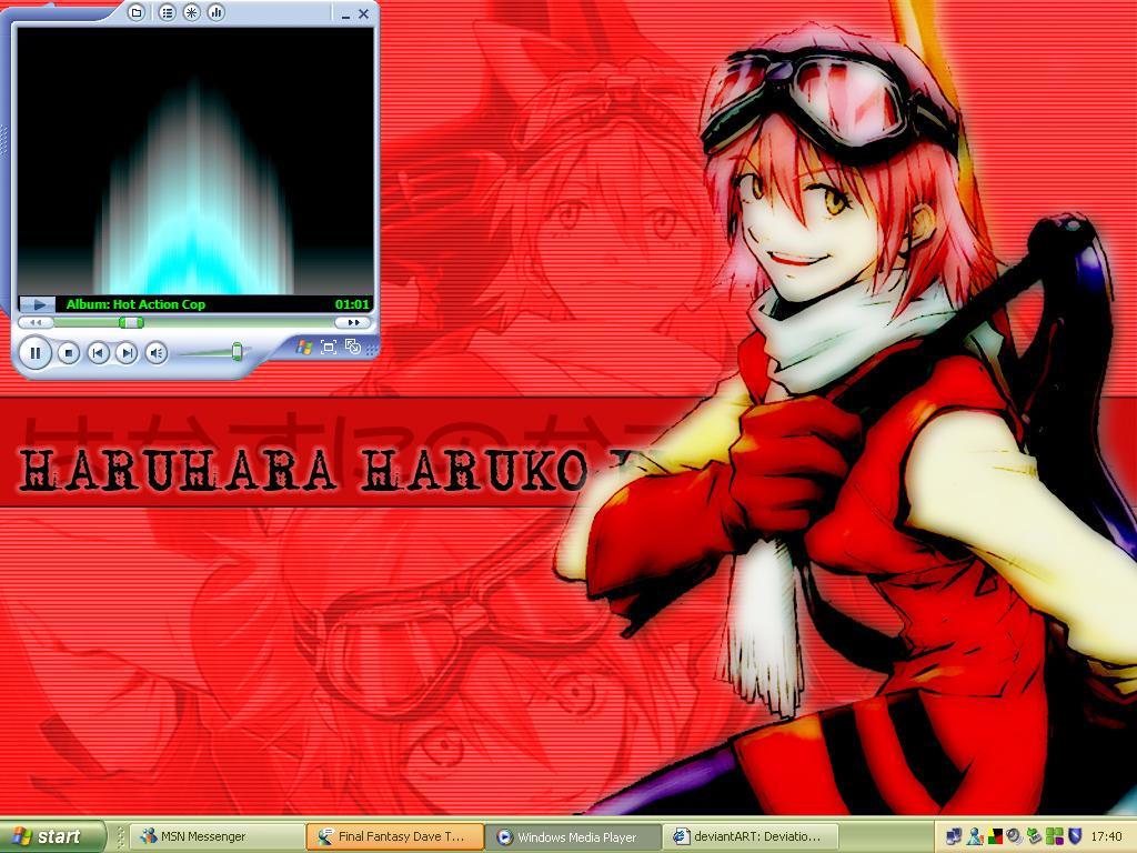 FLCL Haruko Desktop by ravenmocara
