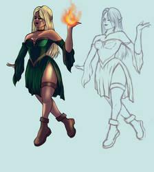 Eve - fire dancer