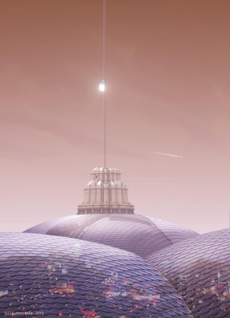 Sheffield and the space elevator by Ludo38