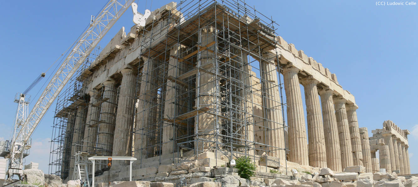 Greece - Rebuilding the Parthenon 02 (panorama) by Ludo38